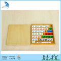 مرحلة ما قبل المدرسة التعليمية الخشبية مونتيسوري المواد en71 الرياضيات لعبة لعبة البنك