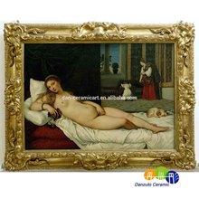 ceramic art mural nude lady oil paintings
