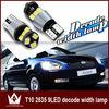 T10 LED Width Lamp For Universal Cars,194 168 W5W 2835 9LED Reading lamp car led license plate Bulb Clearance Light