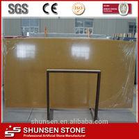 Crystal/Sparkle Yellow Resin Composite Stone Artificial/ Imitation Quartz Slabs Countertop/Wall Cladding/Tiles