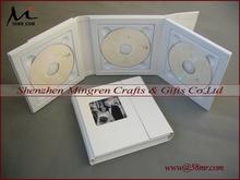 PU Leather Wedding CD DVD Case,1 Pic,4 Disc