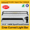 "High quality cree 11900LM 140w 31.5"" truck roof led light bar"