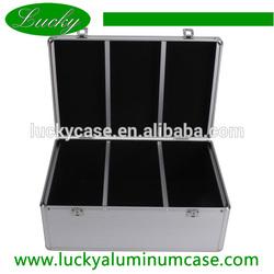 Silver 600-disc aluminum cd dvd storage case