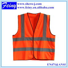 FEINY red polyester mesh safety vest,reflective safety vest motorcycle