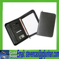 ring file folder 4 d rings / embossed leather business ring binder folder / a4 pu leather portfolio folder