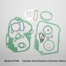 motorcycle engine gasket cylinder head full gasket kit for CD100
