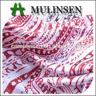 Mulinsen Textile Light Weight 100% Polyester Printed Twist Baju Kurung Satin Fabric