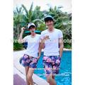 nuevo 2014 coreano de los hombres y las mujeres amantes de peinado pantalones cortos pantalones de playa hoja de arce rojo