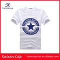 La costumbre de la moda de impresión en blanco t- shirt/plain white t- camisetas al por mayor/100% de algodón t- fabricantes de camisas