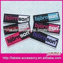 wholesale outdoor wear garments custom rubber patch/label