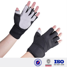 Short Finger professional Sports Gloves neoprene fabric Black Anti-slip hand protection wholesale custom made fitness gloves