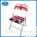 la bandera de inglés plegable silla de jardín