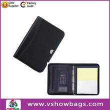 Fashion design leather business bag a4 synthetic leather portfolio