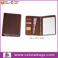 Hot salling aluminum briefcase/ attache case fashion a4 leather folder organizer