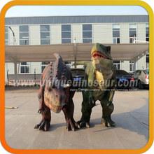 Robotic dinosaur model for amusement park walking t-rex dinosaur suits
