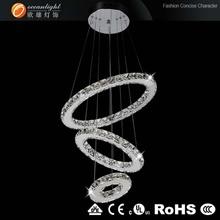 Crystal hotel pendant lamp,led ring light Om88090D