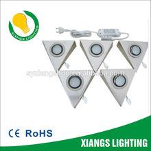 Steel Triangle Set 1.8W 1X 5 sets DC 12V LED CABINET