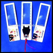 Custom plastic fresnel lens magnifier, bookmark magnifier card, plastic magnifying lens