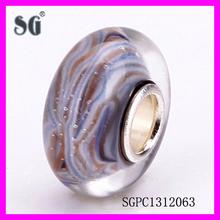 Violet Love Grey Hearts Murano Glass_Murano Glass Beads Stamped 925_2015 Fascinating Screw Core Glass Beads