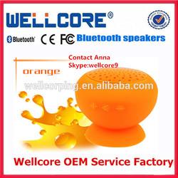 Wellcore Factory Price New Mini Sucker Bluetooth Speaker Hands free Waterproof Silicone---Wellcore OEM !
