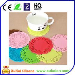 Eco-friendly silicone flower design cheap cardboard drink coasters