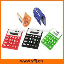 Pocket solar silicone rubber calculator with logo printed