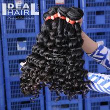 100% virgin Brazilian curly remy hair weft No sheding brazilian human hair