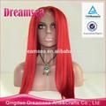 أعلى نوعية رخيصة طويلة شعر مستعار طبيعي يبحث الحمراء الدانتيل الجبهة الاصطناعية شعر مستعار أحمر