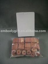 Aromatic Natural Cedar Block Set/ring ball /natural green hotel bedding set