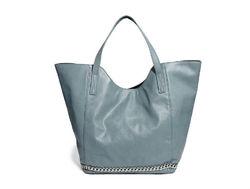 2014 New Ladies Shopping bag Fashion PU handbag Chain Decoration Tote Bag From Factory