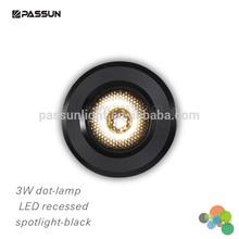 high power mini 3W dot-lamp led spot lighting recessed mounted