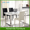 Modern design wooden top metal dining table legs