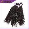 La mayoría popular brasileña natural mojado y ondulado pelo, 100% cabello humano brasileña weavon