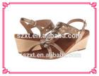 cheap wedge sandals new model woman dress shoe