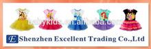 Summer princess Cinderella & Ariel & Belle print girls dress/Girls tutu dress