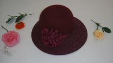 Customized/wholesale woman mini cowgirl hats Popular hairs hat fedora lady headwear 100% wool felt hats&caps/fashion accessories