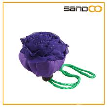 2014 promotional folding rose shape beauty tote foldable shopping bag