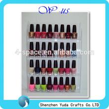 Acrílico montado en la pared nail polish display opi plexiglás soporte de uñas polaco venta al por mayor