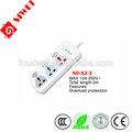 manera 3 eléctrico universal de tomas de corriente con interruptor individual de la sobrecarga y la protección de los niños protecteor