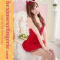 sexy miss santa claus navidad traje de las señoras vestido de fantasía traje