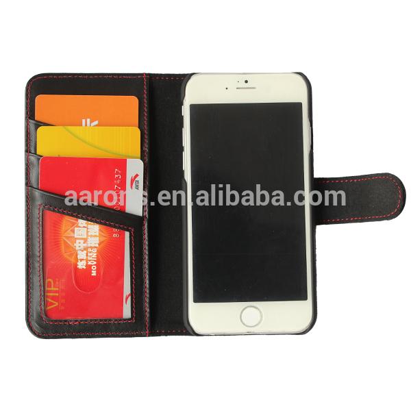 아이폰 6 진짜 가죽 케이스 새로운 도착 스탠드 기능, 아이폰 6 지갑 케이스