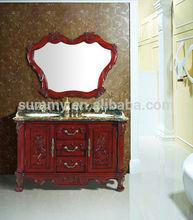 (SC-3309) Solid wood double sink antique Bathroom Vanity