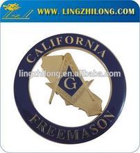 Hot Wholesales Custom Car Logo Badge Masonic Car Emblem