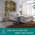 Camas camas de couro genuíno king size móveis cama de madeira maciça A019