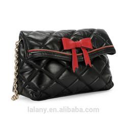 Lelany sheep leather diamond latticer bag , chain shooulder bag