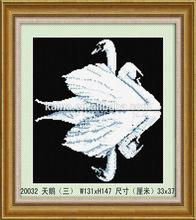 2014 wholesale indiani dipinti, signora tessuto dipinto diamond pittura arte cigno design per soggiorno