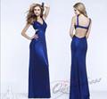 Nova moda azul royal sereia v- pescoço sexy backless vestidos de noite 2014