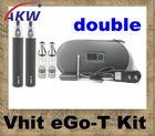 newest design vapor double ego-t e cigarette with patent Vhit atomizer CA0064