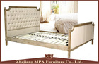 Queen King Size Solid Wood Platform Bed Frame Bedroom Furniture with Headboard and Footboard