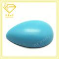preço de grosso sintéticas forma de pêra azul turquesa gemstones hong kong
